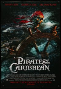 2y0862 PIRATES OF THE CARIBBEAN advance DS 1sh 2003 Curse of the Black Pearl, skeleton at the wheel!