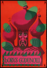 2y0304 BORYS GODUNOW stage play Polish 27x39 1961 Mroszczak art of castle!