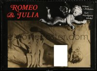 2y0308 ROMEO & JULIET stage play Polish 27x37 1979 William Shakespeare, design by Andrzej Klimowski!