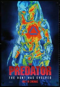 2y0867 PREDATOR style B int'l teaser DS 1sh 2018 great image of the alien as seen in thermal-vision!