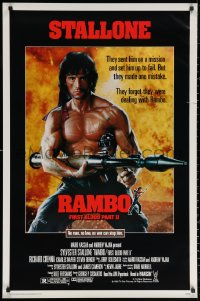 2y0874 RAMBO FIRST BLOOD PART II 1sh 1985 no law, no war can stop Sylvester Stallone!