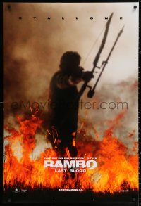 2y0876 RAMBO: LAST BLOOD teaser DS 1sh 2019 Sylvester Stallone has one more fight left in him!