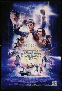 2y0878 READY PLAYER ONE advance DS 1sh 2018 Steven Spielberg, cast montage by Paul Shipper!