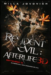 2y0881 RESIDENT EVIL: AFTERLIFE teaser 1sh 2010 sexy Milla Jovovich returns in 3-D!