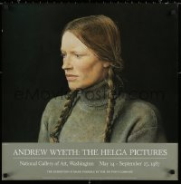 2y0294 ANDREW WYETH THE HELGA PICTURES 25x25 museum/art exhibition 1987 Braids, close-up by the artist!
