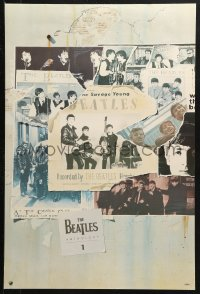 2y0312 BEATLES 20x30 music poster 1995 montage with George, Paul, Ringo and John, Anthology 1!