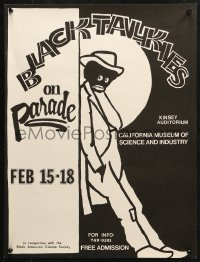 2y0296 BLACK TALKIES ON PARADE 2-sided 17x23 museum/art exhibition 1977 African American history!