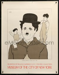 2y0297 DRAWINGS BY WILLIAM AUERBACH-LEVY 22x28 museum/art exhibition 1980s Modern Times, Chaplin