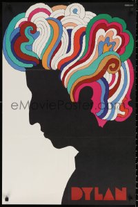 2y0313 DYLAN 22x33 music poster 1967 colorful silhouette art of Bob by Milton Glaser!