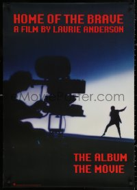 2y0315 HOME OF THE BRAVE 26x37 music poster 1986 Laurie Anderson in concert, cool silhouette image!
