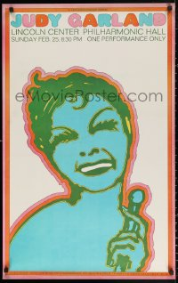2y0316 JUDY GARLAND 23x37 music poster 1968 Seymour Chwast artwork of lengendary actress & singer!
