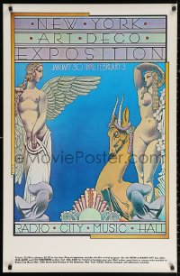 2y0300 NEW YORK ART DECO EXPOSITION 26x40 museum/art exhibition 1975 Radio City Music Hall, Byrd art!