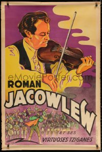 2y0319 ROMAN JACOWLEW ET SES VIRTUOSES TZIGANES 32x47 French music poster 1930s different!