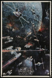 2y0321 STAR WARS 22x33 music poster 1977 George Lucas classic, John Berkey artwork, soundtrack!