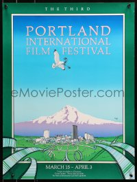 2y0292 THIRD PORTLAND INTERNATIONAL FILM FESTIVAL signed 18x24 film festival poster 1980 by Dolack!