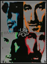 2y0323 U2 24x33 music poster 1992 great images of Bono, The Edge & Adam Clayton for Pop!