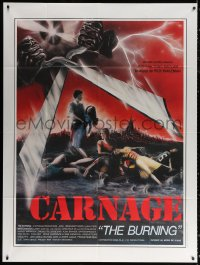 2z0805 BURNING French 1p 1982 Weinstein, a legend of terror is no campfire story anymore, Carnage!