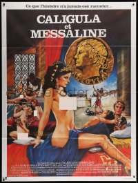 2z0807 CALIGULA & MESSALINA French 1p 1982 Caligula et Messaline, art of sexy women in orgy!