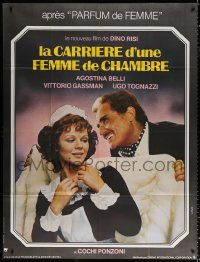 2z0811 CAREER OF A CHAMBERMAID French 1p 1976 Dino Risi's Telefoni Bianchi, Vittorio Gassman, Belli