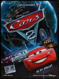 2z0812 CARS 2 advance French 1p 2011 Walt Disney animated automobile racing, Lightning McQueen!
