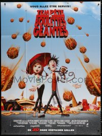 2z0826 CLOUDY WITH A CHANCE OF MEATBALLS French 1p 2009 Bill Hader, Anna Faris, cute animation!