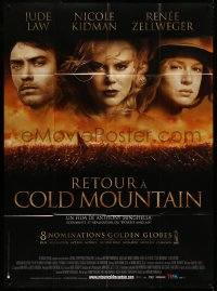 2z0828 COLD MOUNTAIN French 1p 2004 Jude Law, Nicole Kidman & Renee Zellweger in the Civil War!