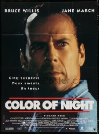 2z0829 COLOR OF NIGHT French 1p 1994 super close up of Bruce Willis, nothing is what it seems!