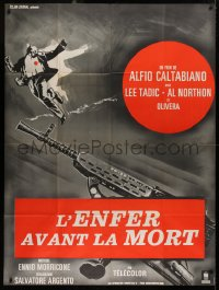 2z0831 COMANDAMENTI PER UN GANGSTER French 1p 1968 art of murdered man & smoking gun, rare!