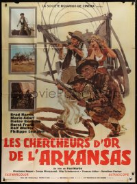 2z0832 CONQUERORS OF ARKANSAS French 1p 1965 Gaer spaghetti western art of Brad Harris & co-stars!