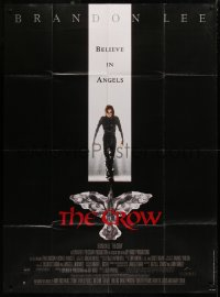 2z0836 CROW French 1p 1994 cool different full-length image of Brandon Lee in his final movie!