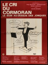 2z0837 CRY OF THE CORMORAN French 1p 1971 great Jacques Faizant art of music conductor smoking!