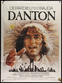 2z0843 DANTON French 1p 1982 Andrzej Wajda, cool art of Gerard Depardieu by Michel Landi!