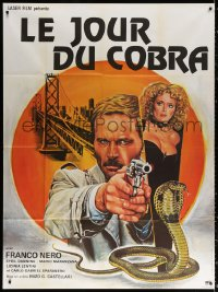 2z0844 DAY OF THE COBRA French 1p 1980 Levilloin art of Franco Nero, Sybil Danning & cobra!
