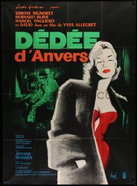2z0848 DEDEE D'ANVERS French 1p R1960s Yves Allegret, great art of sexy Simone Signoret by Hurel!