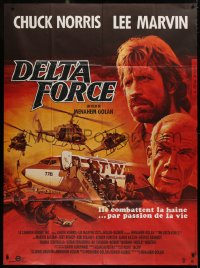 2z0849 DELTA FORCE French 1p 1986 Haley art of Chuck Norris & Lee Marvin by plane & helicopters!