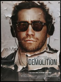 2z0851 DEMOLITION French 1p 2016 great c/u of Jake Gyllenhaal wearing sunglasses & headphones!