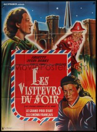 2z0856 DEVIL'S ENVOYS French 1p R1960s Marcel Carne's Les Visiteurs du Soir, colorful art!