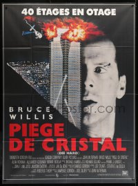 2z0858 DIE HARD French 1p 1988 cop Bruce Willis is up against twelve terrorists, crime classic!