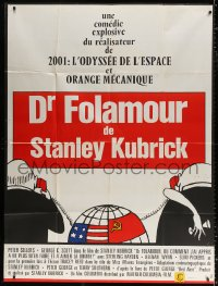 2z0868 DR. STRANGELOVE French 1p R1970s Stanley Kubrick classic, Peter Sellers, great artwork!