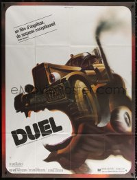 2z0870 DUEL French 1p 1973 Steven Spielberg, wacky different killer vehicle art by Michel Landi!