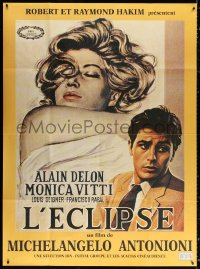 2z0873 ECLIPSE French 1p R1990s Michelangelo Antonioni, art of Alain Delon & sexy Monica Vitti!