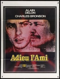 2z0888 FAREWELL, FRIEND French 1p R1974 Adieu l'ami, Charles Bronson & Alain Delon by Ferracci