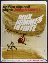 2z0892 FIGURES IN A LANDSCAPE French 1p 1970 Joseph Losey, different helicopter art by Ferracci!