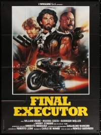 2z0893 FINAL EXECUTIONER French 1p 1986 L'ultimo guerriero, Final Executor, Enzo Sciotti art!