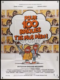 2z0898 FOR 200 GRAND, YOU GET NOTHING NOW French 1p 1982 Edouard Molinaro, Bonnet cartoon art!