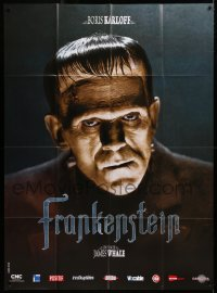 2z0901 FRANKENSTEIN French 1p R2008 wonderful close up of Boris Karloff as the monster!