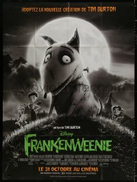 2z0902 FRANKENWEENIE advance French 1p 2012 Tim Burton's remake of his own cartoon short from 1984!