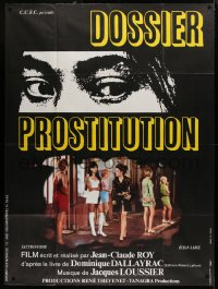 2z0914 GIRLS FOR PLEASURE French 1p 1970 Dossier Prostitution, c/u of eyes + ladies of the night!