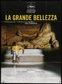 2z0928 GREAT BEAUTY French 1p 2013 Paolo Sorrentino's La Grande Bellezza, Tino Servillo by statue!