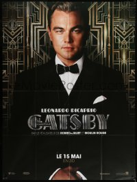 2z0930 GREAT GATSBY teaser French 1p 2013 great c/u of Leonardo DiCaprio, directed by Baz Luhrmann!